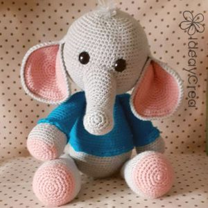 elefante amigurumi peluche crochet ganchillo ideaycrea